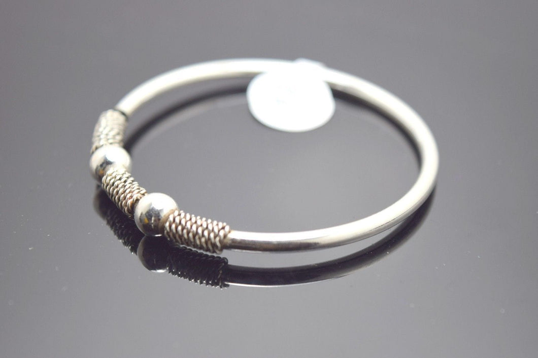 1PC HANDMADE Baby Solid Silver Bracelet 925 sb34 Sterling Children Bangle Cuff
