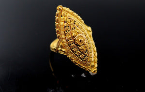 "22k 22ct Solid Gold DIAMOND CUT ANTIQUE LADIES RING SIZE 8 .0' RESIZABLE"" R1635"