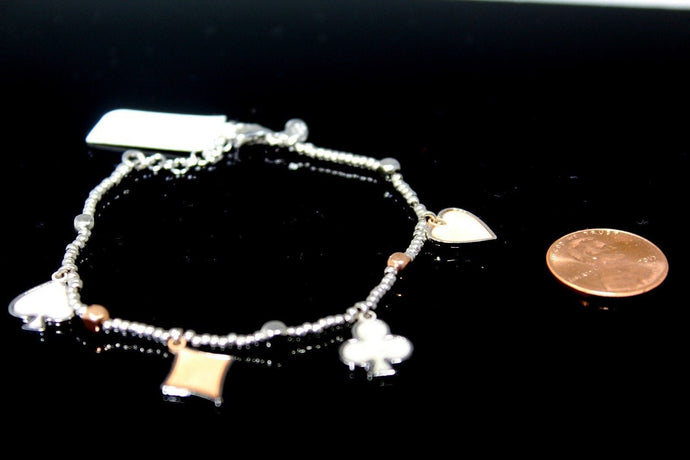 1PC HANDMADE cj34 Solid Sterling Silver 925 women modern charm style braclet