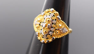 "22k 22ct Solid Gold ELEGANT Charm LADIES Ring SIZE 7.5 ""RESIZABLE"" r1091 