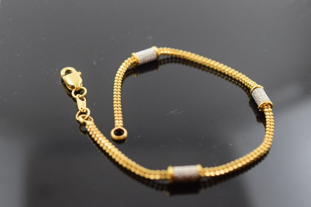 22k 22ct Solid Gold ELEGANT Bracelet with box length 7 Inch CB73