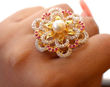 "22k 22ct Solid Gold ELEGANT Antique Ladies Stone Ring SIZE 9.0 ""RESIZABLE"" r1524"