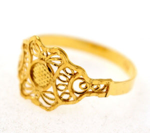 "22k 22ct Solid Gold ELEGANT HIGH POLISH Ring BAND ""RESIZABLE"" R1144 