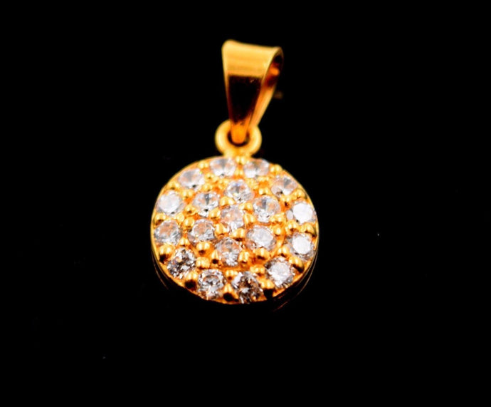 22k Jewelry Solid Gold ELEGANT Charm Round LOCKET Pendant P565