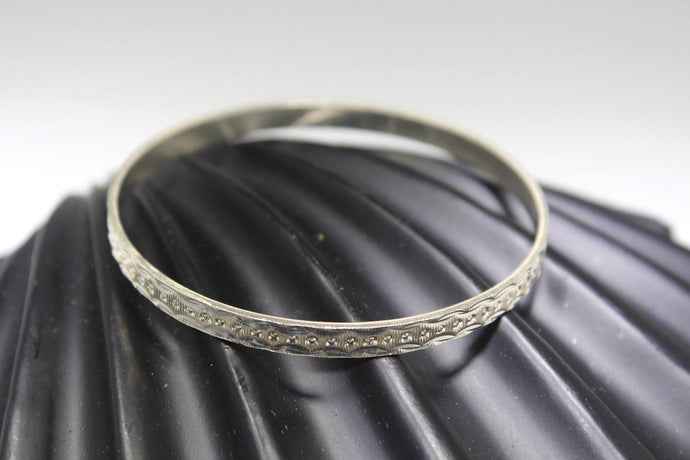 1PC HANDMADE women b122 Solid Sterling Silver 925 size 2.25 inch kara Bangle