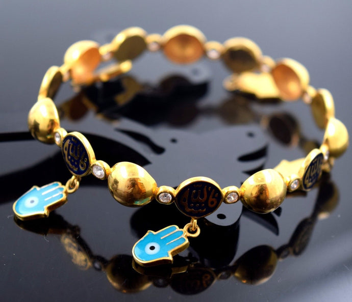 22k Jewelry Solid Gold ELEGANT ARABIC PLAIN BABY CHILDREN BANGLE BRACELET b436