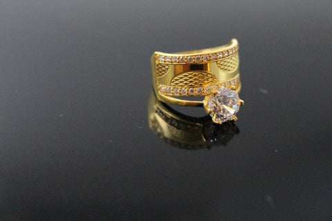 "22k 22ct Solid Gold BEAUTIFUL Elegant Ladies Ring SIZE 8.0 ""RESIZABLE"" r1513"