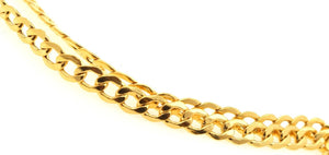 22k Gold Yellow 22ct Elegant Chain linked THIN Designer Length 21inch c752