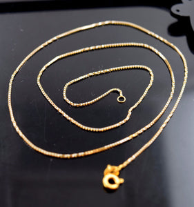 "22k Jewelry Yellow Gold Rope Chain Modern Box Two Tone Design Necklace 18"" c276"