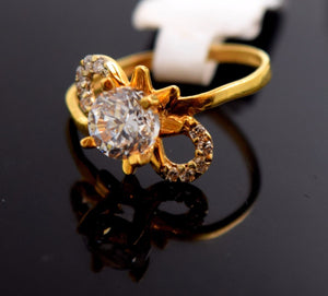 "22k Jewelry Solid Gold ELEGANT Ring Unique Design ""RESIZABLE"" R590 