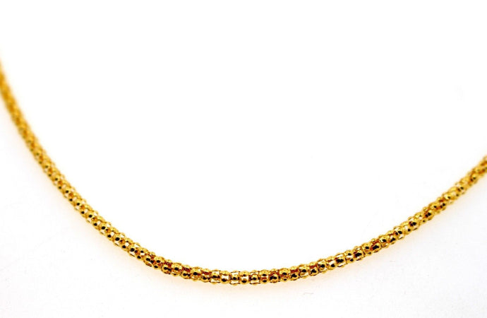 22k 22ct Yellow Solid Gold ELEGANT THICK ROUND DESIGNER CHAIN NECKLACE c937