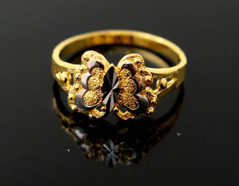 "22k 22ct Solid Gold Ladies Ring Butterfly Design SIZE 6.0 ""RESIZABLE"" R1303"
