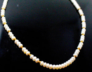 22k 22ct Chain Yellow Solid Beautiful Gold Pearl Necklace Mala Chain c901