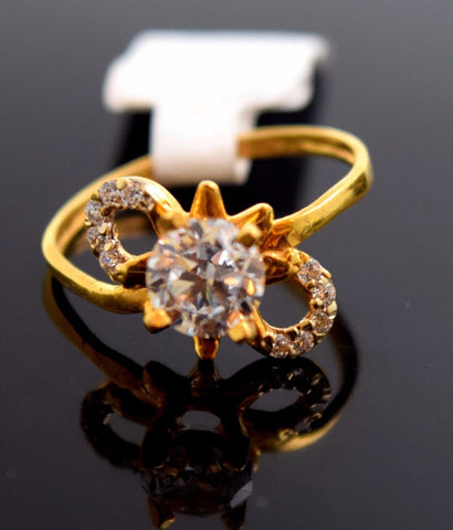 "22k Jewelry Solid Gold ELEGANT Ring Unique Design ""RESIZABLE"" R590"