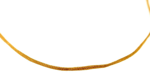 22k 22ct Yellow Solid Gold Chain Foxtail Necklace Design 1.65mm 18 inch c875