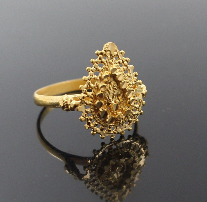 22k 22ct Solid Gold BEAUTIFUL FILGREE LADIES BAND RING Size 7.8 RESIZABLE R1282