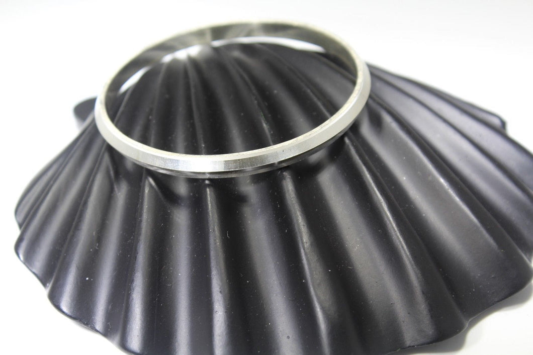 1PC HANDMADE Men b15 Solid Sterling Silver 925 size 2.50 inch kara Bangle Cuff