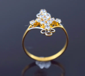 "22k 22ct Solid Gold BEAUTIFUL STONE LADIES BAND Ring SIZE 7.8 ""RESIZABLE"" R711 - Royal Dubai Jewellers"