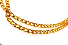 22k Gold Solid Yellow Elegant Chain Simple Cuban Link Design Length 22 inch son