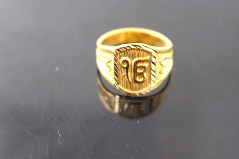 "22k 22ct Solid Gold ELEGANT Baby Ring SIZE 3 ""RESIZABLE"" R1103"