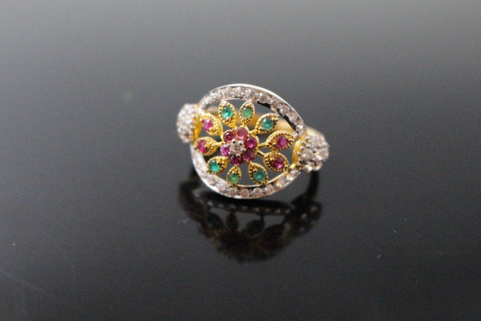22k 22ct Solid Gold ELEGANT Antique Ladies Stone Ring SIZE 7.0