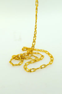 22k Yellow Solid Gold Chain Rope Necklace 4.2mm C195 Figaro Design | Royal Dubai Jewellers