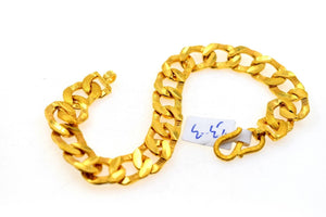 22k Gold Jewelry Solid HEAVY CONCAVE CURB LINK Men BRACELET LENGTH 8.2 B578 | Royal Dubai Jewellers