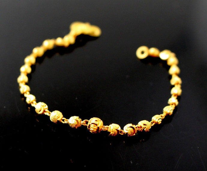 22k 22ct Solid Gold ELEGANT BALL BABY KIDS CHILDREN Bracelet B754 - Royal Dubai Jewellers