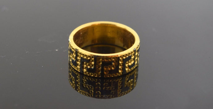 22k Solid Gold ELEGANT Desgner Ring BAND Modern Design