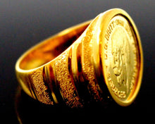 "22k 22ct Solid Gold EXQUISITE King George MEN Ring ""RESIZABLE"" size13.0 r1587"