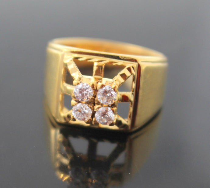 22k 22ct Solid Gold Elegant MEN Ring Square Design Size 8