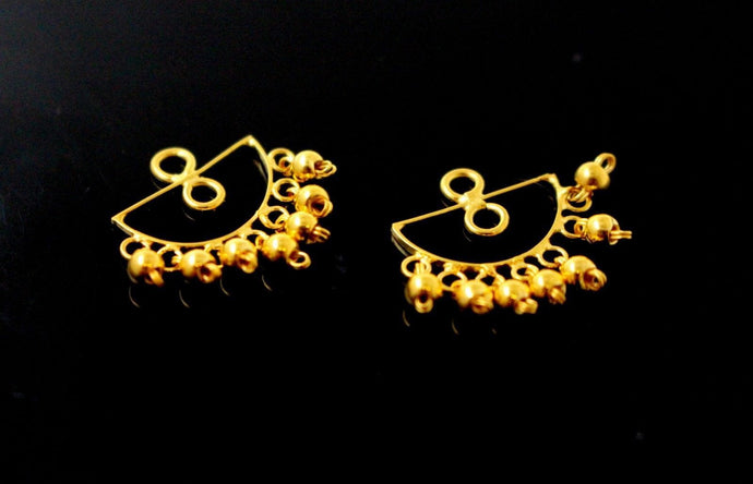 22k 22ct solid gold DESIGNER EARRING JACKETS E5880