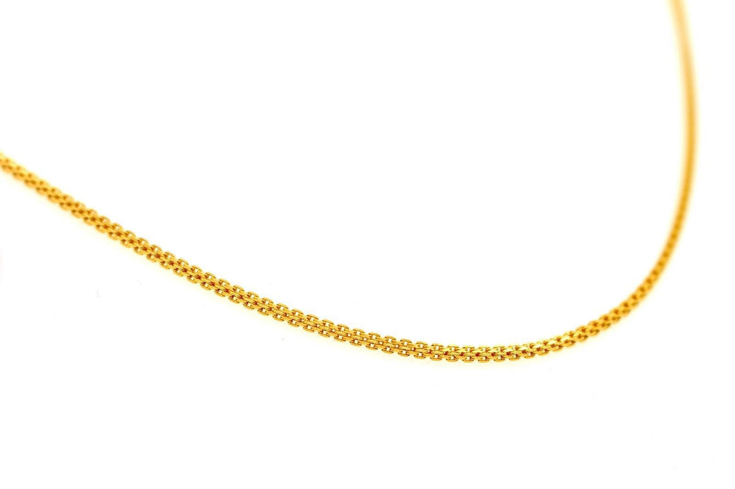 22k 22ct Yellow Solid Gold GORGEOUS DESIGNER CHAIN NECKLACE c911 | Royal Dubai Jewellers