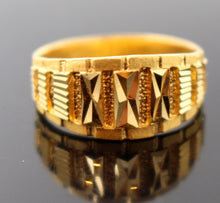 "22k 22ct Solid Gold DESIGNER Ring BAND ""RESIZABLE"" R1193 - Royal Dubai Jewellers"