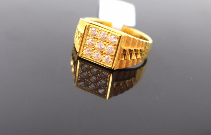 22k 22ct Solid Gold ELEGANT Mens Ring SIZE 9.5