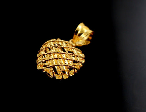 22k 22ct Solid Gold BEAUTIFUL 3D APPLE SHAPE ROUND Pendant Locket p859 | Royal Dubai Jewellers
