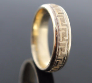 "22k 22ct Solid Gold ELEGANT Men Ring Band SIZE 10 ""NON RESIZABLE"" R1095"