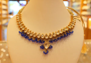 22k 22ct Solid Gold Elegant Traditional Kundan Set Necklace with STONE KS101
