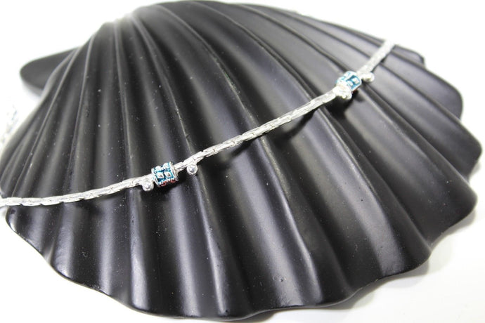 2PC HANDMADE Solid Silver Payal 925 sbb46 Sterling adult ladies Anklets