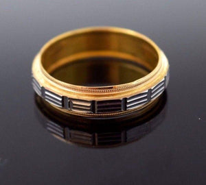 "22k 22ct Solid Gold RHODIUM LASER CUT MENS Ring BAND ""RESIZABLE"" size 11.3 r786"