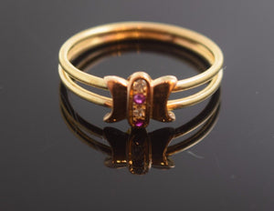 "22k 22ct Solid Gold ELEGANT STONE BAND Ring with FREE BOX ""RESIZABLE"" r466"