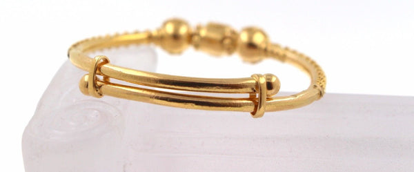 22k 22ct Solid Gold BEAUTIFUL FILIGREE BABY CHILDREN BANGLE ADJUSTABLE CB1020 - Royal Dubai Jewellers