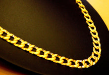 "22k Gold HEAVY Yellow Miami Chain Cuban Link 22"" DIAMOND CUTS Free Sizing son"