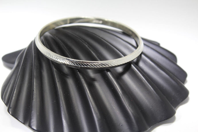 1PC HANDMADE Men b37 Solid Sterling Silver 925 size 2.75 inch kara Bangle Cuff