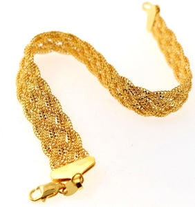 22k Jewelry Solid Gold ELEGANT Charm Ladies Bracelet Unique Design B884 | Royal Dubai Jewellers
