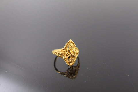 "22k 22ct Solid Gold ELEGANT Charm Baby Ring SIZE 1 "" RESIZABLE"" r1107 