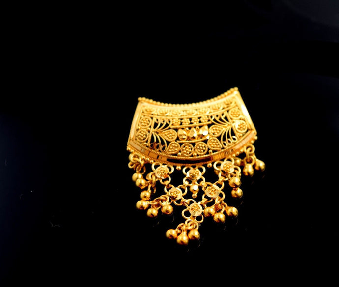22k Solid Gold ELEGANT CHARM Pendant Locket Modern Design P477 | Royal Dubai Jewellers