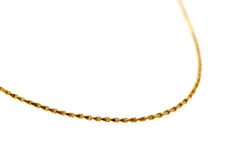 22k 22ct Chain Yellow Solid Gold Thin Link Necklace Chain c895