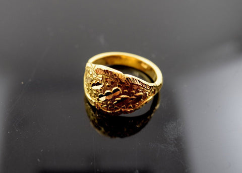 "22k Solid Gold ELEGANT Ring Modern Design ""RESIZABLE"" size 9 mf"