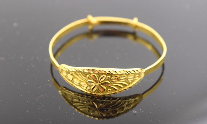 22k 22ct Solid Gold ELEGANT BABY CHILDREN BANGLE BRACELET CUFF cb31 | Royal Dubai Jewellers